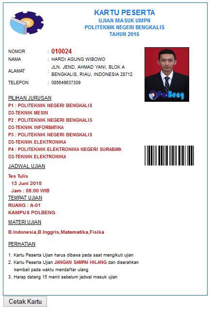Website Informasi Penerimaan Mahasiswa Baru Politeknik Negeri Bengkalis